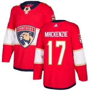 Youth Florida Panthers Derek Mackenzie Adidas Authentic Derek MacKenzie Home Jersey - Red