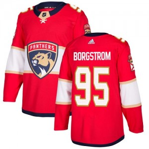 Youth Florida Panthers Henrik Borgstrom Adidas Authentic Home Jersey - Red