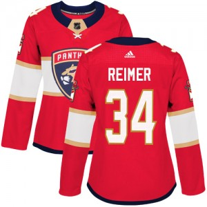 Women's Florida Panthers James Reimer Adidas Authentic Home Jersey - Red