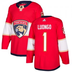 Youth Florida Panthers Roberto Luongo Adidas Authentic Home Jersey - Red