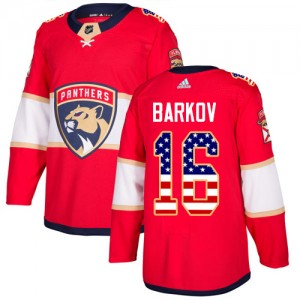 Men's Florida Panthers Aleksander Barkov Adidas Authentic USA Flag Fashion Jersey - Red