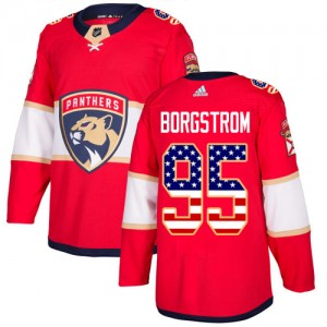 Youth Florida Panthers Henrik Borgstrom Adidas Authentic USA Flag Fashion Jersey - Red