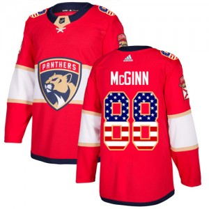 Youth Florida Panthers Jamie McGinn Adidas Authentic USA Flag Fashion Jersey - Red