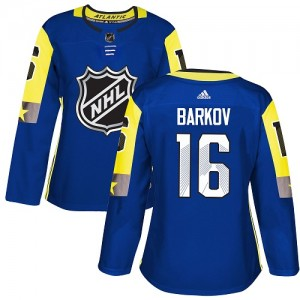 Women's Florida Panthers Aleksander Barkov Adidas Authentic 2018 All-Star Atlantic Division Jersey - Royal Blue