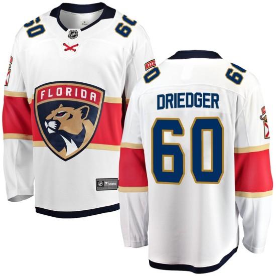 Men's Florida Panthers Chris Driedger Fanatics Branded Breakaway Away Jersey - White