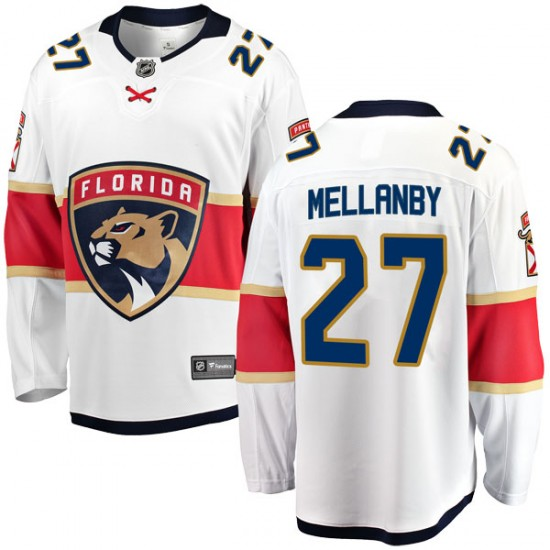 Men's Florida Panthers Scott Mellanby Fanatics Branded Breakaway Away Jersey - White