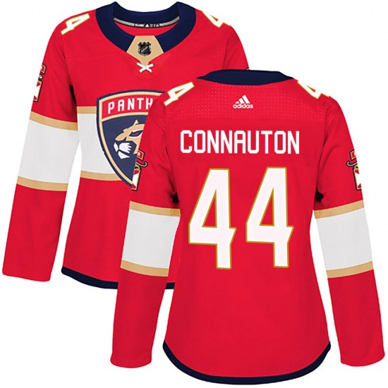 Women's Florida Panthers Kevin Connauton Adidas Authentic Home Jersey - Red