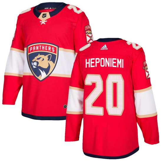 Men's Florida Panthers Aleksi Heponiemi Adidas Authentic Home Jersey - Red