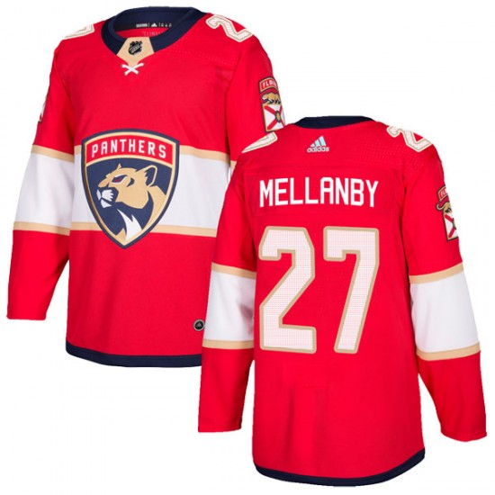 Men's Florida Panthers Scott Mellanby Adidas Authentic Home Jersey - Red
