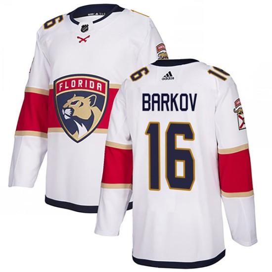 Men's Florida Panthers Aleksander Barkov Adidas Authentic Away Jersey - White