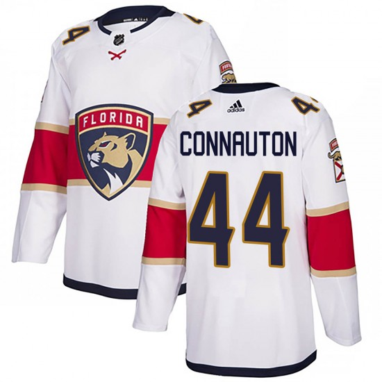 Men's Florida Panthers Kevin Connauton Adidas Authentic Away Jersey - White