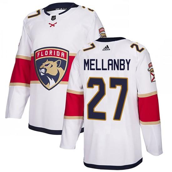 Men's Florida Panthers Scott Mellanby Adidas Authentic Away Jersey - White