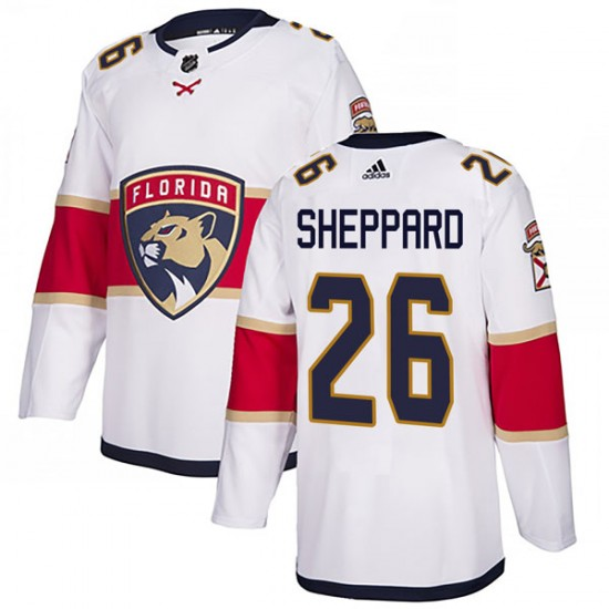 Men's Florida Panthers Ray Sheppard Adidas Authentic Away Jersey - White