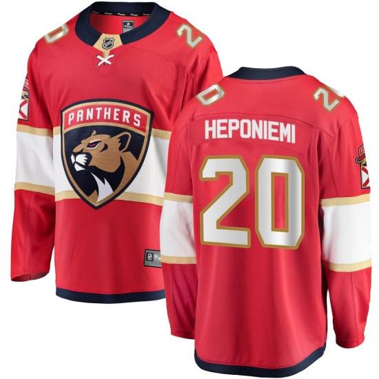 Men's Florida Panthers Aleksi Heponiemi Fanatics Branded Breakaway Home Jersey - Red