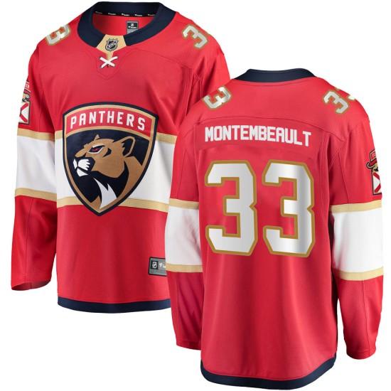 Men's Florida Panthers Sam Montembeault Fanatics Branded Breakaway Home Jersey - Red