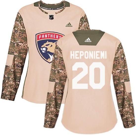 Women's Florida Panthers Aleksi Heponiemi Adidas Authentic Veterans Day Practice Jersey - Camo