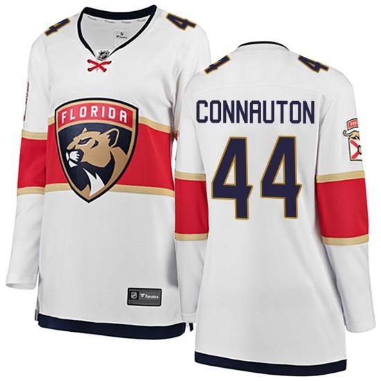 Women's Florida Panthers Kevin Connauton Fanatics Branded Breakaway Away Jersey - White