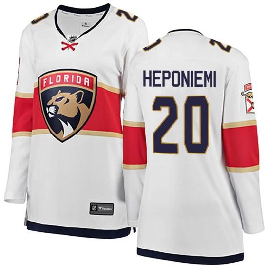 Women's Florida Panthers Aleksi Heponiemi Fanatics Branded Breakaway Away Jersey - White