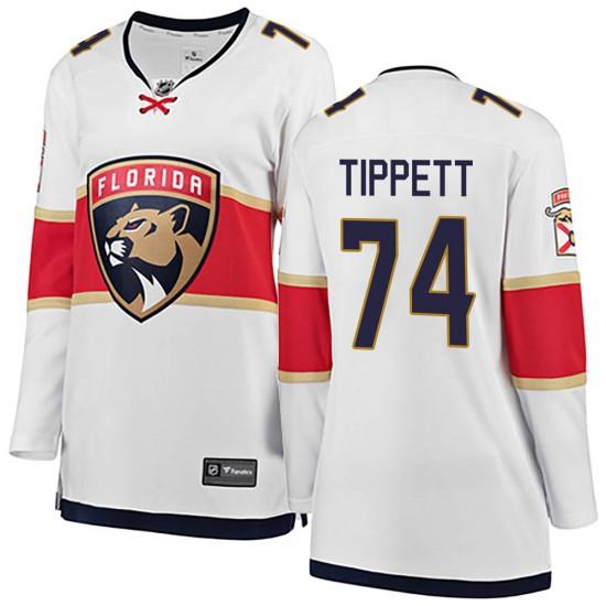 Women's Florida Panthers Owen Tippett Fanatics Branded ized Breakaway Away Jersey - White