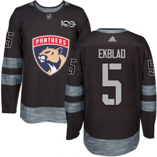info for 4a74e bd765 Men's Florida Panthers Aaron Ekblad Adidas Authentic 1917-2017 100th  Anniversary Jersey - Black