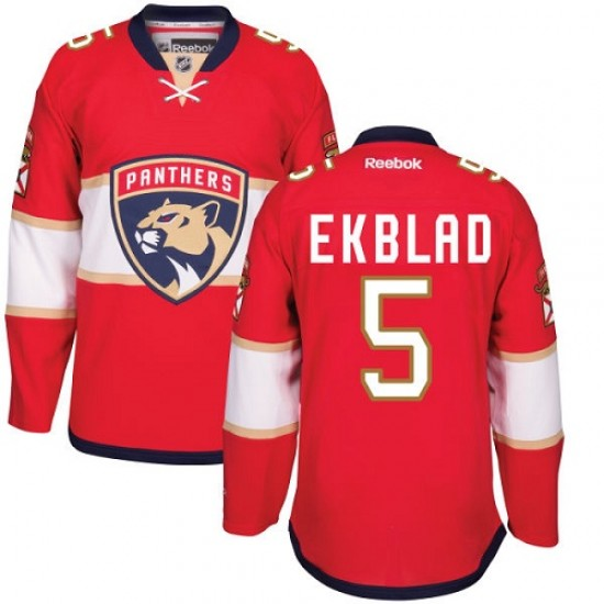 brand new 72a81 154a6 Men's Florida Panthers Aaron Ekblad Reebok Premier Home Jersey - Red