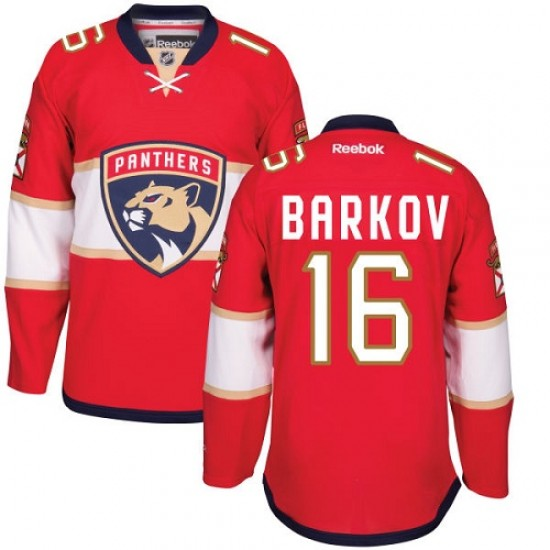 best authentic 163e3 36f27 Men's Florida Panthers Aleksander Barkov Reebok Authentic Home Jersey - Red