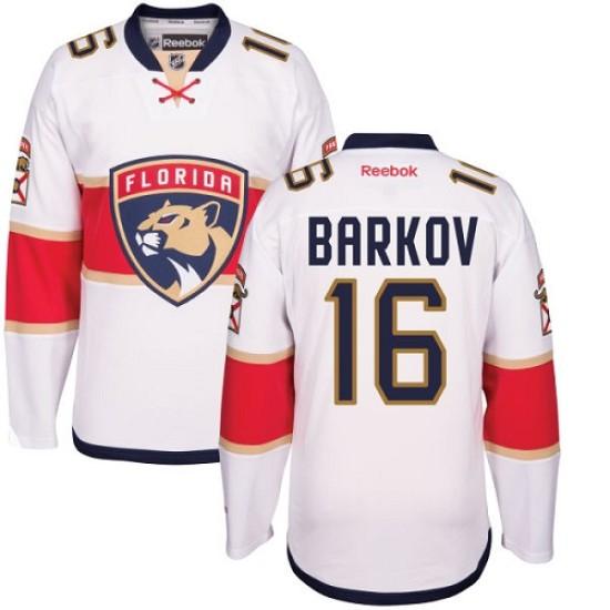 new styles a98b7 81a2a Men's Florida Panthers Aleksander Barkov Reebok Authentic Away Jersey -  White