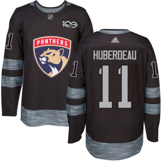 Men's Florida Panthers Jonathan Huberdeau Adidas Authentic 1917-2017 100th Anniversary Jersey - Black