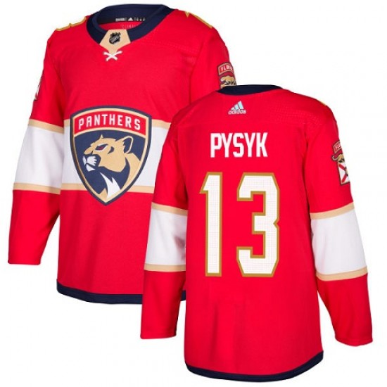 Youth Florida Panthers Mark Pysyk Adidas Authentic Home Jersey - Red