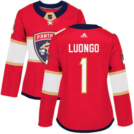 Women S Florida Panthers Roberto Luongo Adidas Authentic Home Jersey Red